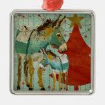 Donkeys Christmas Ornament