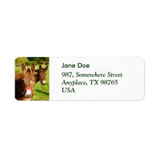 Donkeys Return Address Label