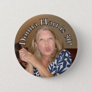 Donna Hart's 50 6 Cm Round Badge
