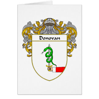 Donovan Coat of Arms (Mantled) Card