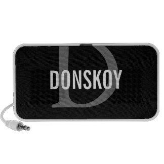 Donskoy Cat Monogram Design iPhone Speakers