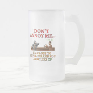 Don't Annoy Me Frosted Glass Mug