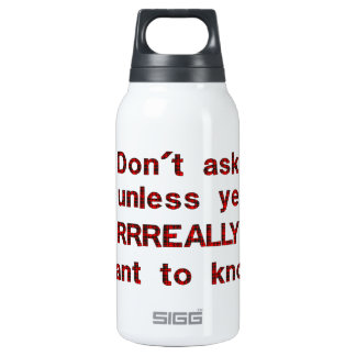 Dont Ask 0.3 Litre Insulated SIGG Thermos Water Bottle