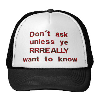 Dont Ask Trucker Hats