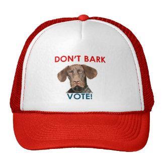 Don't Bark ... Vote! Cap