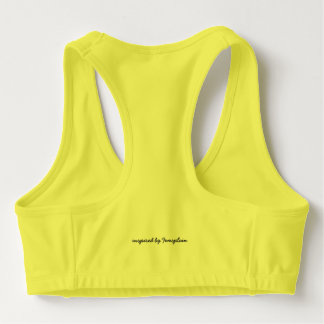 Don't Be A Bridesmaid Yellow Sports Bra