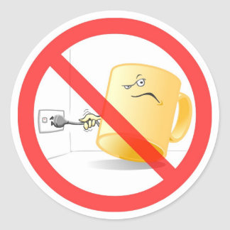 Don't be a Mug, Use the Plug! Colour Sticker