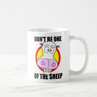 don't be a sheep coffee mug