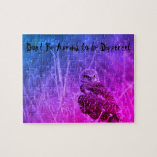 Don't Be Afraid to be Different  Owl Art Puzzle