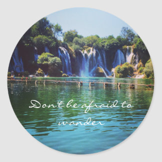 Don't be afraid to Wander Sticker