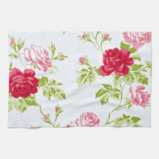 Don't be Blue Vintage Rose Pattern Tea Towel