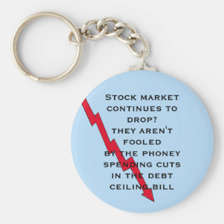 Don't be fooled by phoney spending cuts basic round button key ring