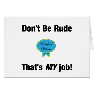 Don't be Rude card