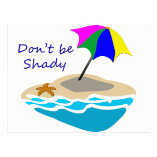 Dont Be Shady Beach Umbrella Postcard