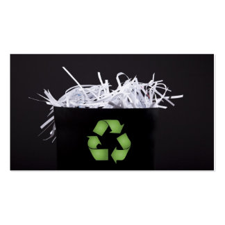 Don't Be Trashy - Recycle Pack Of Standard Business Cards