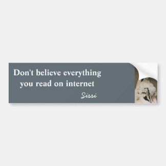 Don't believe everything you read on internet bumper sticker