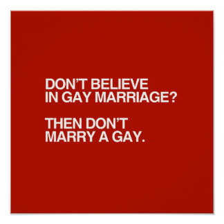Gay Marriage Poster 66