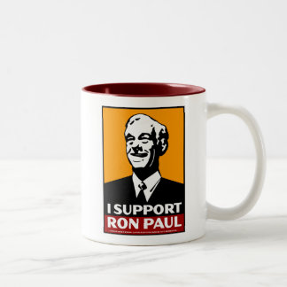 Don't blame me. I voted for, Ron Paul Two-Tone Coffee Mug