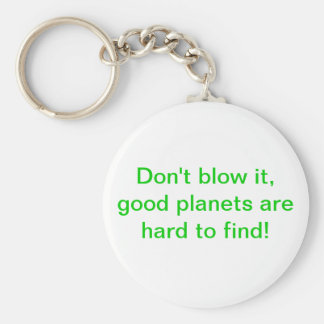 Don't blow it, good planets are hard to find! basic round button key ring