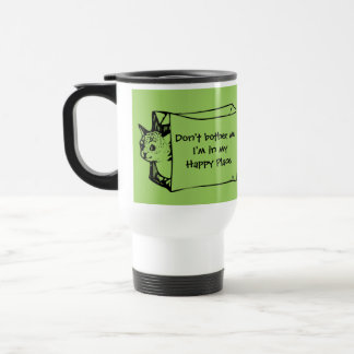 Don't Bother Me Cat in a Bag Mug for Introverts!
