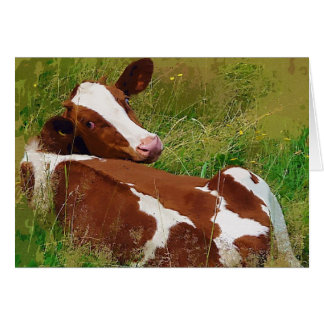 Don't Bother Me Cow Card