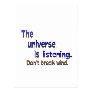 Don't Break Wind - Universe is Listening Postcard