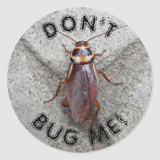 Don't Bug Me Cockroach Photo Classic Round Sticker