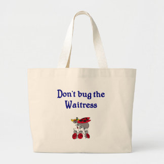 Don't bug the Waitress tote bag with ladybugs