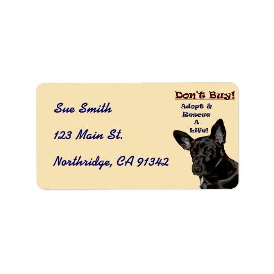 Don't Buy! Adopt Animal Avery Label Address Label
