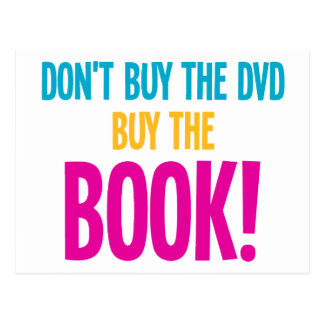 Don't Buy The DVD, Buy The Book Postcard