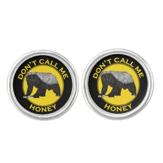 Don't Call Me Honey, Honey Badger Feminist Slogan Cufflinks