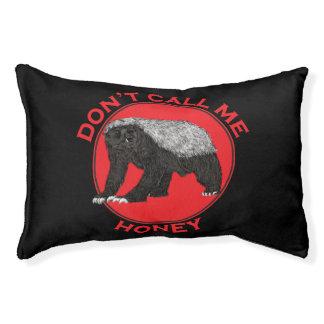 Don't Call Me Honey, Honey Badger Red Feminist Art Pet Bed