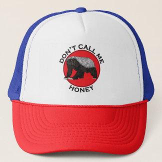 Don't Call Me Honey, Honey Badger Red Feminist Art Trucker Hat