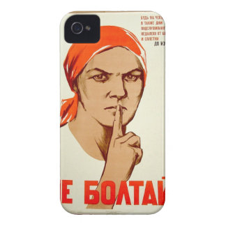 Don't chat! Chatting leads to treason iPhone 4 Case-Mate Case
