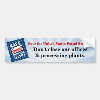 Don't close our offices bumper sticker