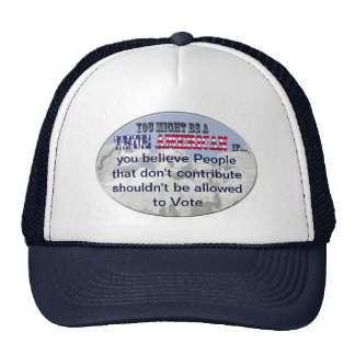 dont contribute cant vote hat