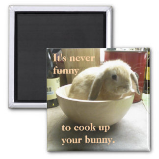 Don't cook the bunny! magnet