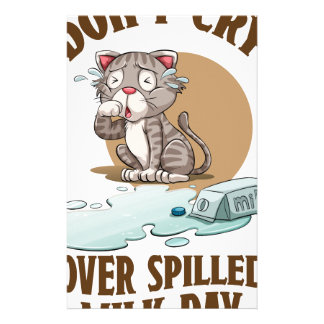Don't Cry Over Spilled Milk Day - Appreciation Day Stationery