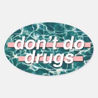 Don't Do Drugs Pop Art Oval Sticker