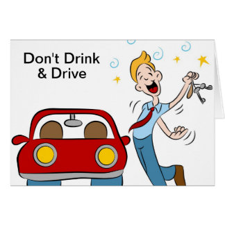 Don't Drink and Drive Card