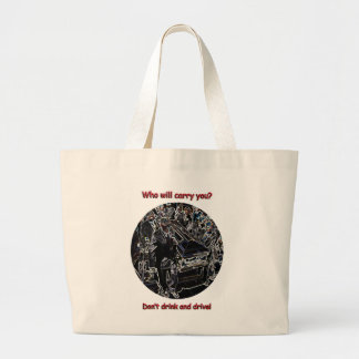Don't drink and drive jumbo tote bag
