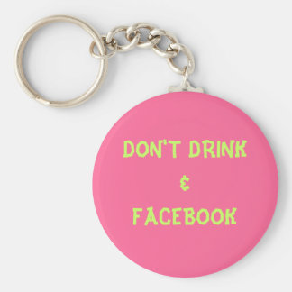 DON'T DRINK&FACEBOOK BASIC ROUND BUTTON KEY RING