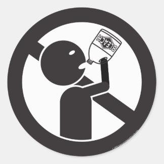 Don't Drink The Bleach Round Sticker