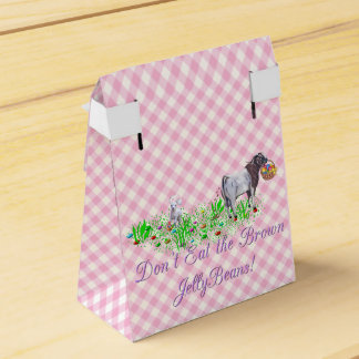 Don't Eat the Brown Jellybeans Boer Goat Favour Box