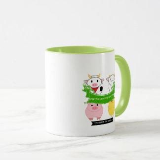 don't eat us you sick a-hole vegan mug