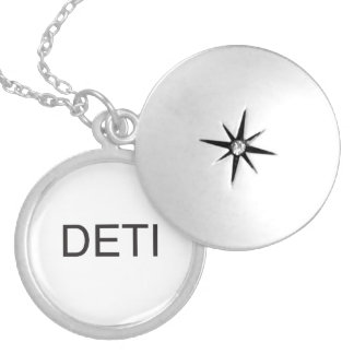 don't even think it.ai round locket necklace