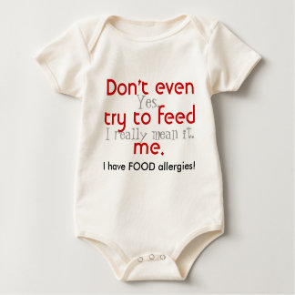 Don't even try to feed me! baby bodysuit