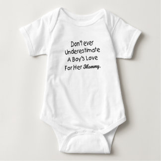 Don't Ever Underestimate A Boy's Love Mommy Baby Bodysuit