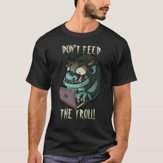 Don't Feed The Troll Internet Troll Laptop Cartoon T-Shirt