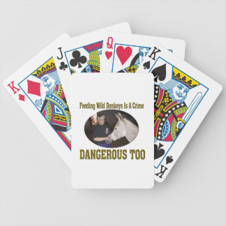 Don't Feed The Wild Donkey Bicycle Playing Cards